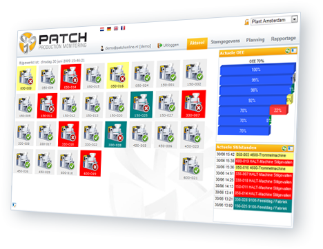 Patch OEE registratie Frontix